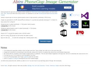 Abiro PhoneGap Image Generator | Abiro